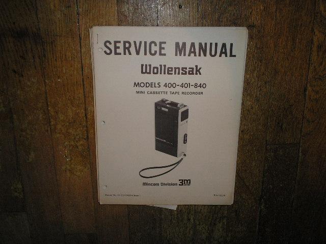 400 401 840 Mini Cassette Tape Recorder Service Manual