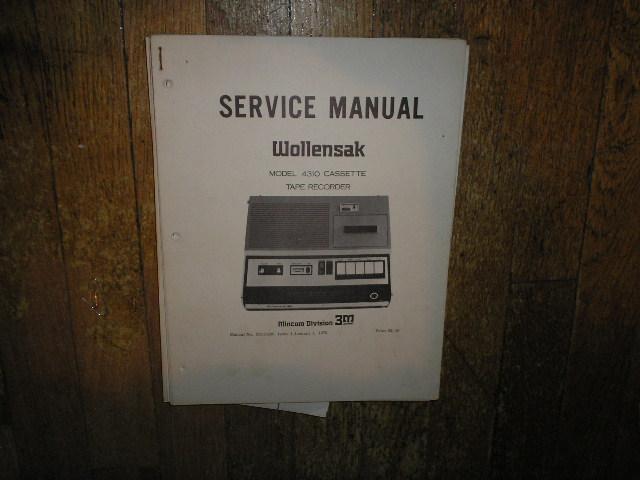 4310 Cassette Tape Recorder Service Manual