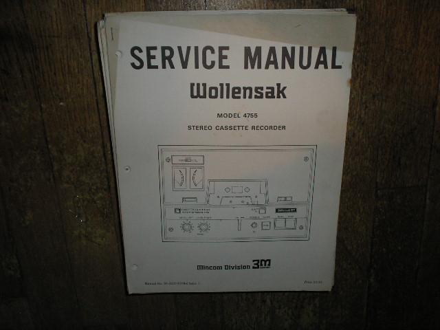 4755 Cassette Tape Recorder Service Manual