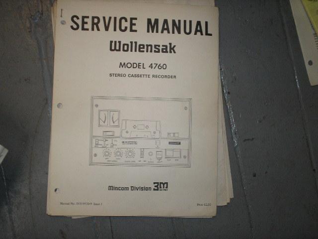4760 Cassette Tape Recorder Service Manual