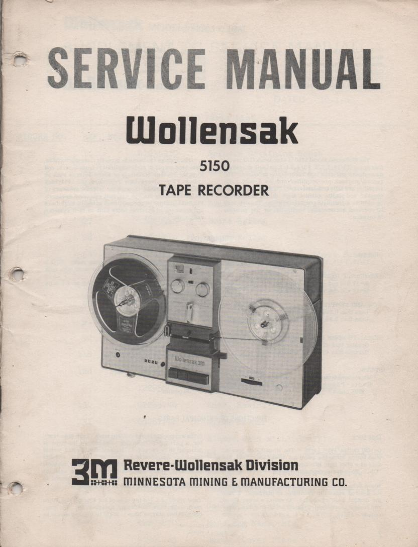 5150 Cassette Tape Recorder Service Manual  WOLLENSAK