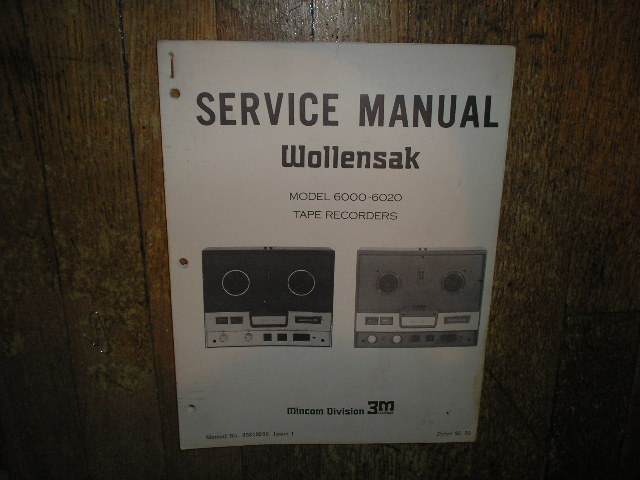 6000 6020 Reel to Reel Service Manual  WOLLENSAK