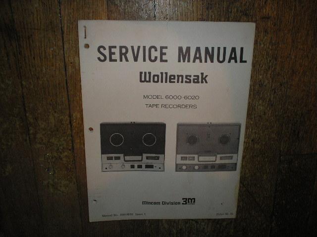 6000 6020 Reel to Reel Service Manual