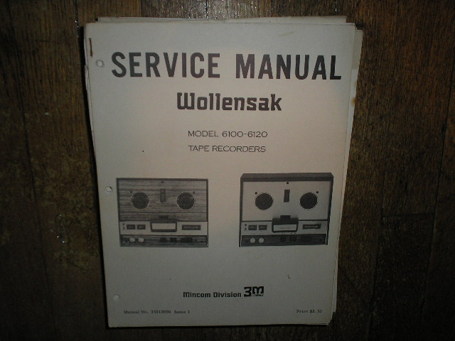 6100 6120 Reel to Reel Service Manual  WOLLENSAK