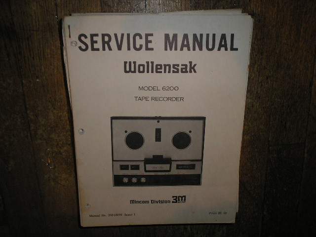 6200 Reel to Reel Service Manual  WOLLENSAK