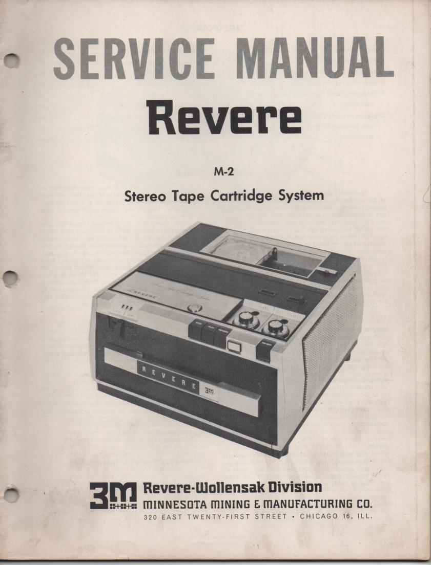 M-2 Tape Cartridge System Service Manual