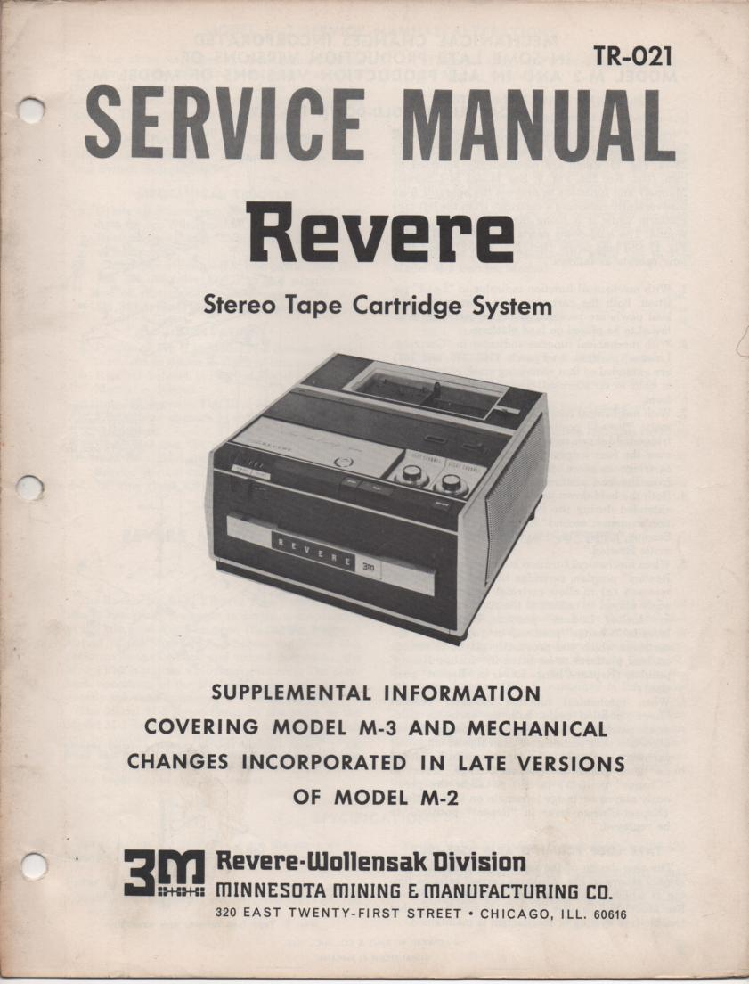 M-3 Tape Cartridge System Service Manual. Comes with M-2 manual and M-3 Supplement