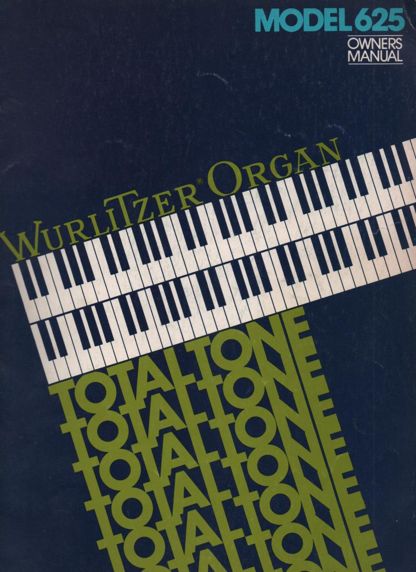 625 Totaltone Owners Instruction Manual