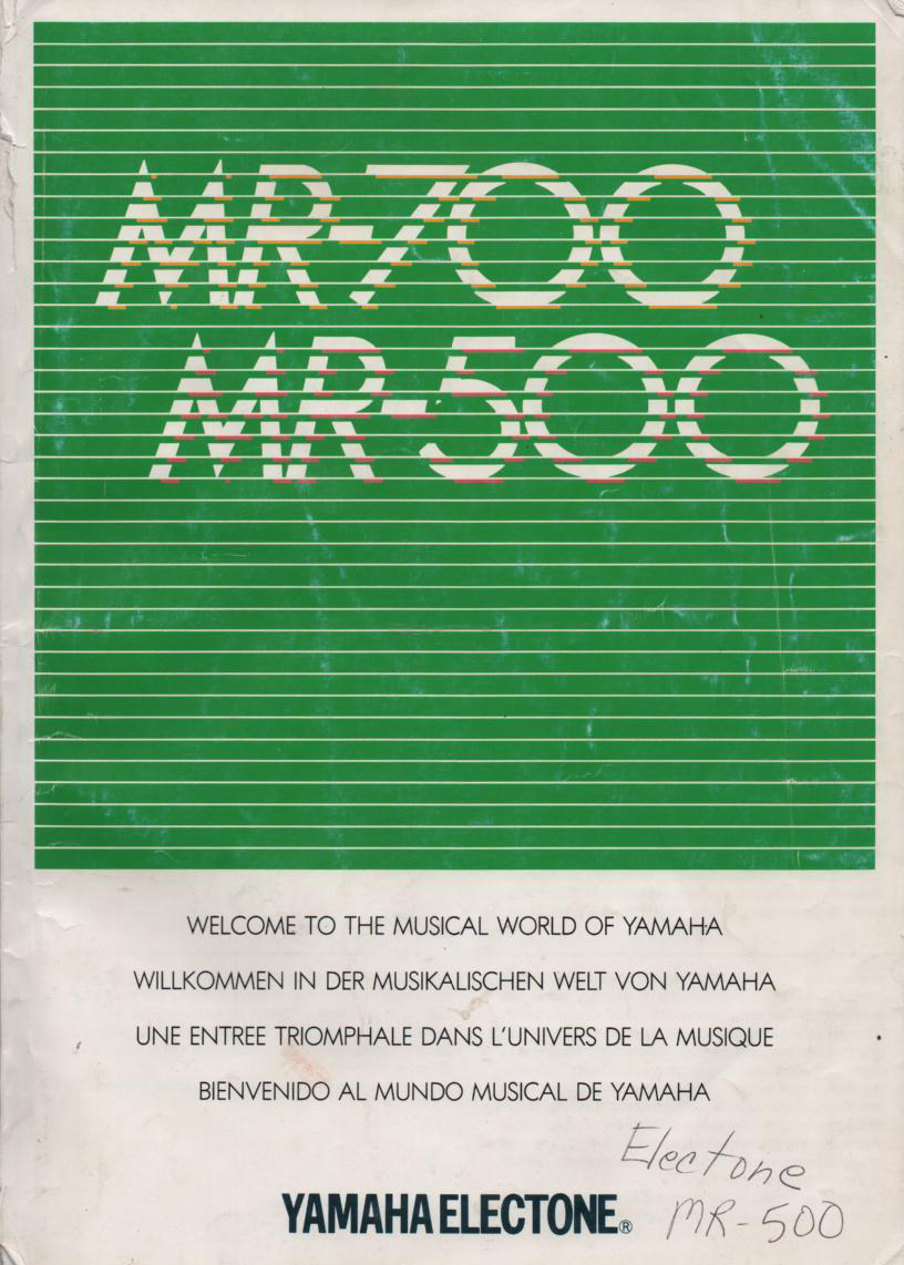 MR-500 MR-700 Keyboard Owners Manual Spanish Version