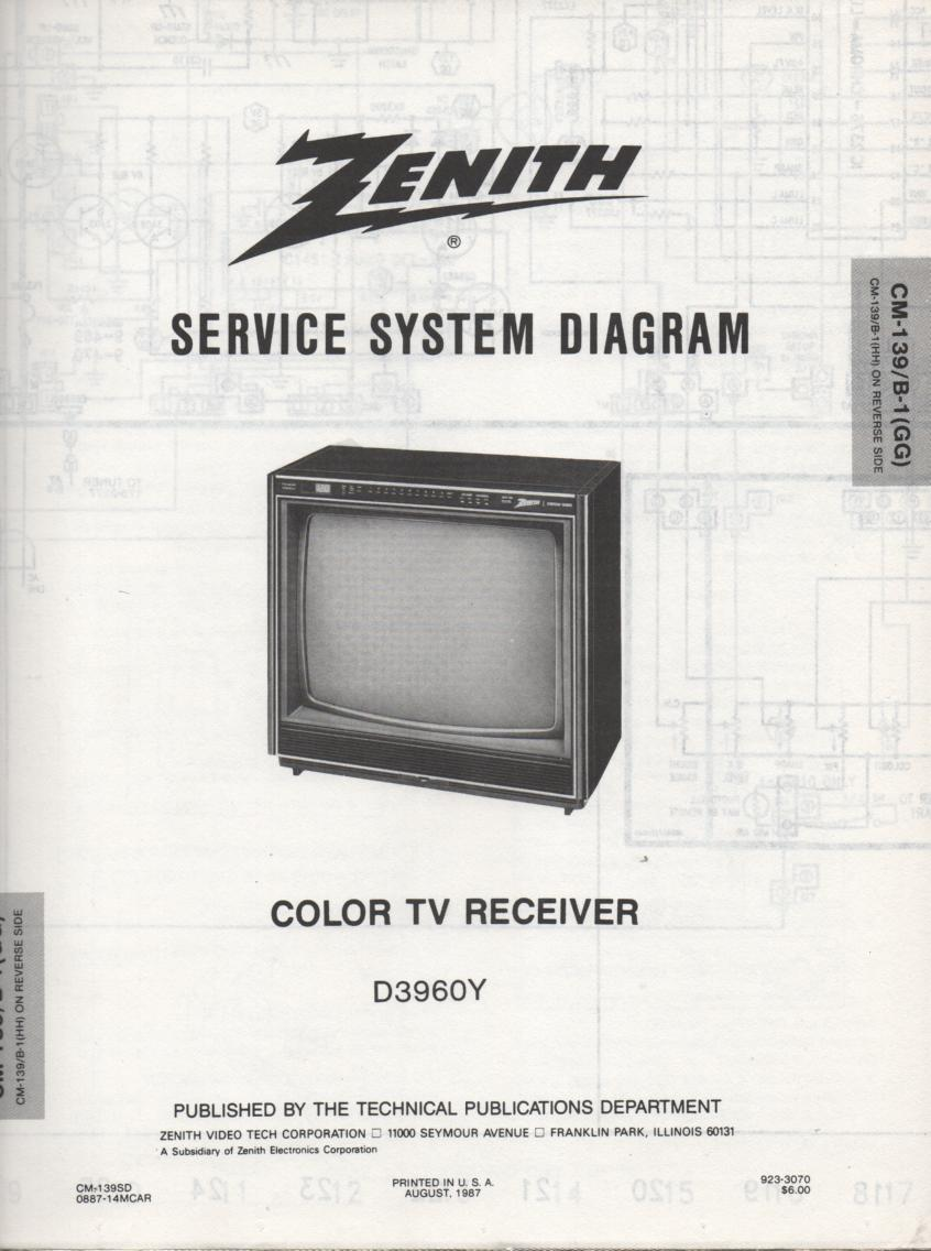 D3960Y TV Schematic