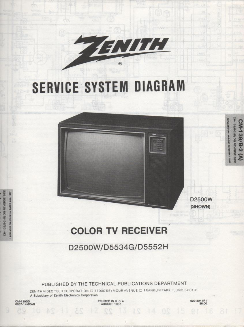 D5552H TV Schematic       D2500W Manual