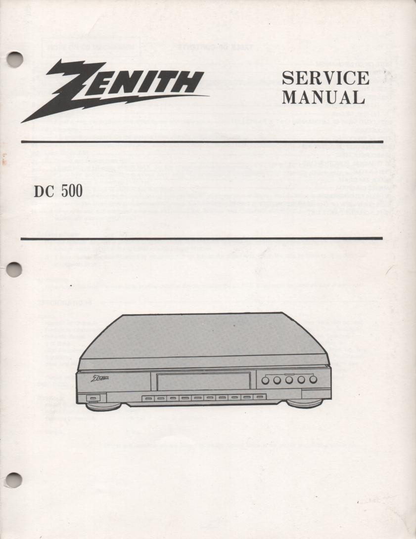 DC500 CD Player Service Manual