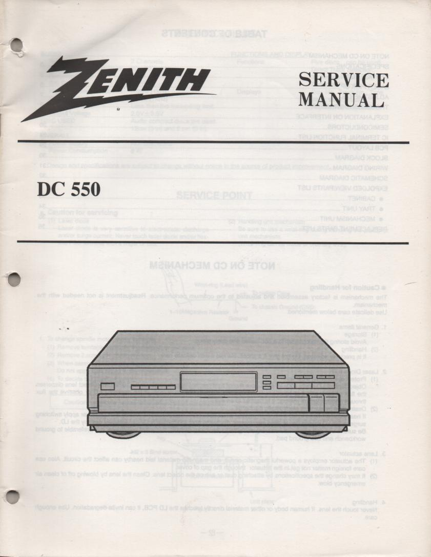 DC550 CD Player Service Manual