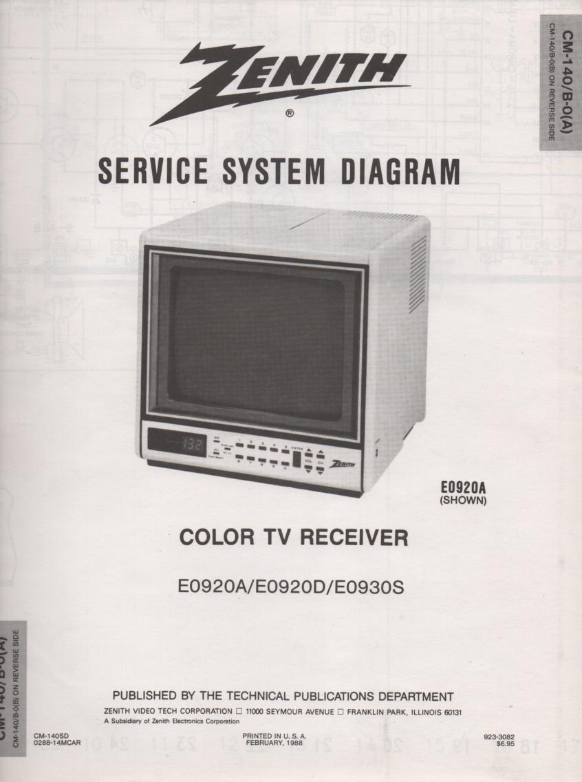 E0920A TV Schematic