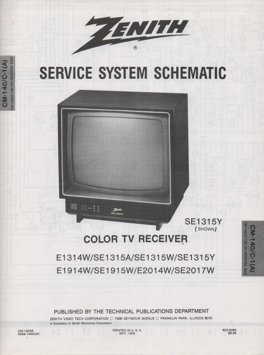 E1314W TV Schematic