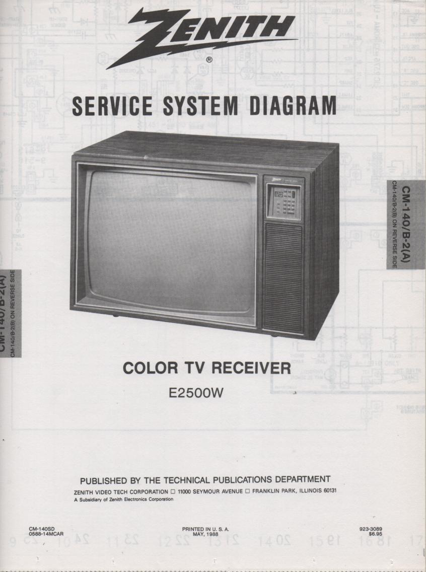 E2500W TV Schematic ..