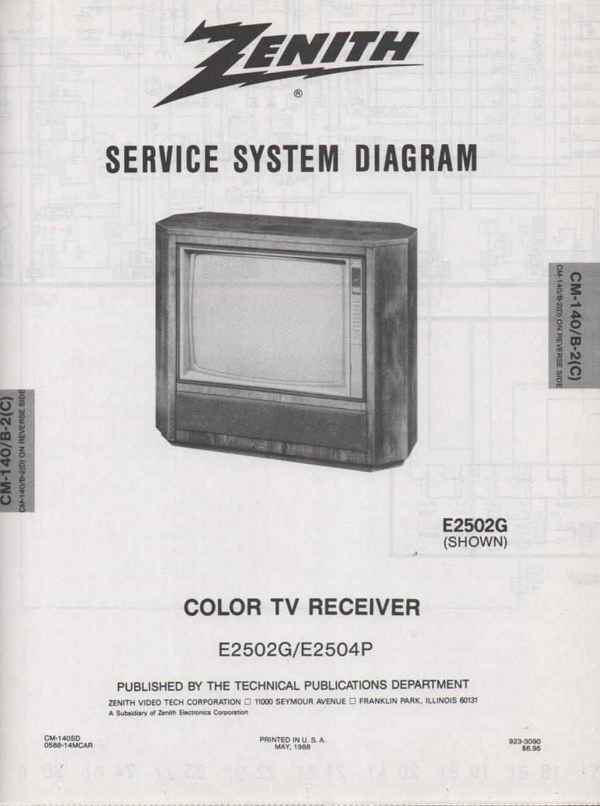 E2502G TV Schematic ..