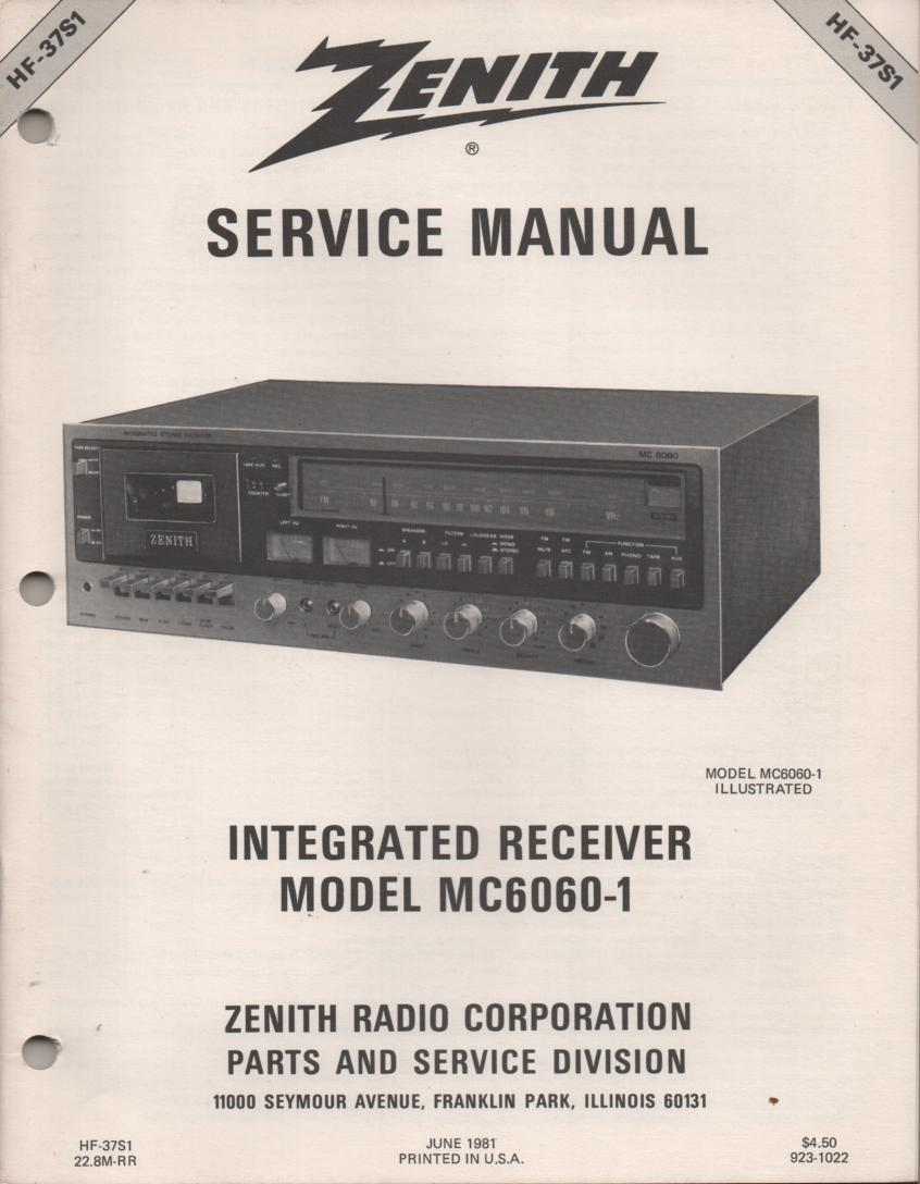 MC6010-1 Stereo System Service Manual HF37S1