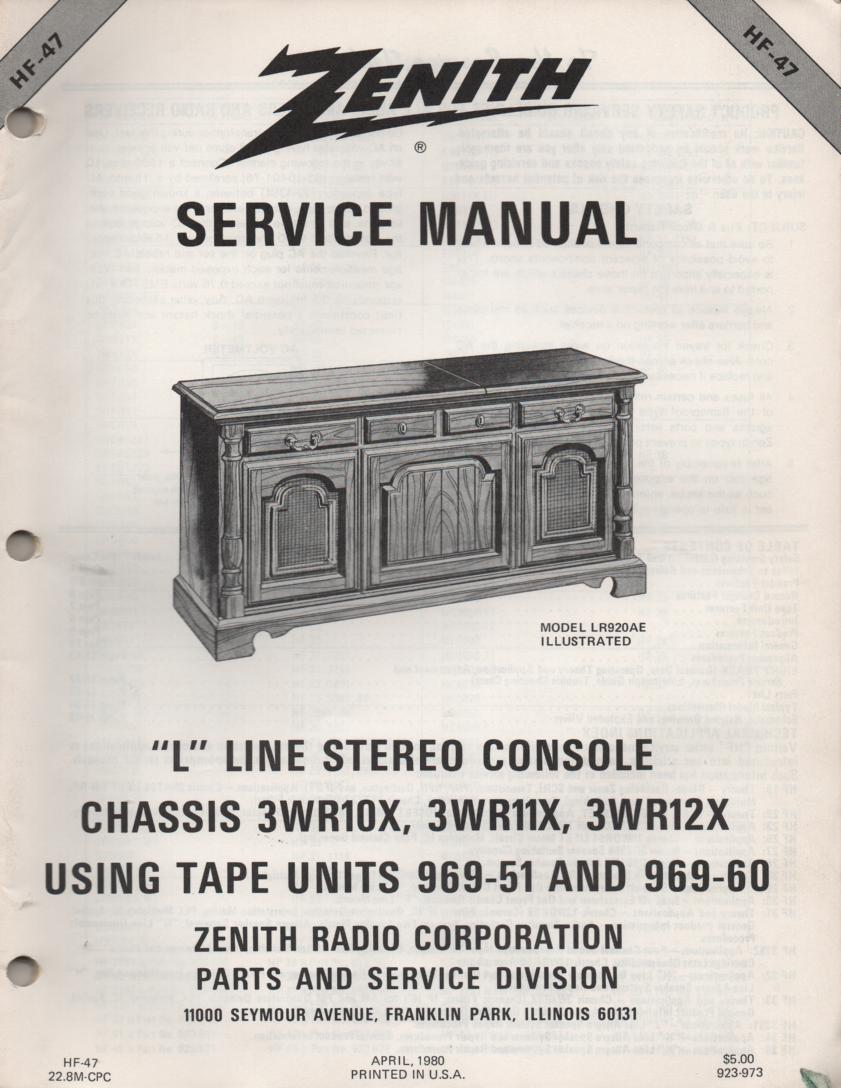 L900P LR902P LR912AE M Line Console Service Manual HF47