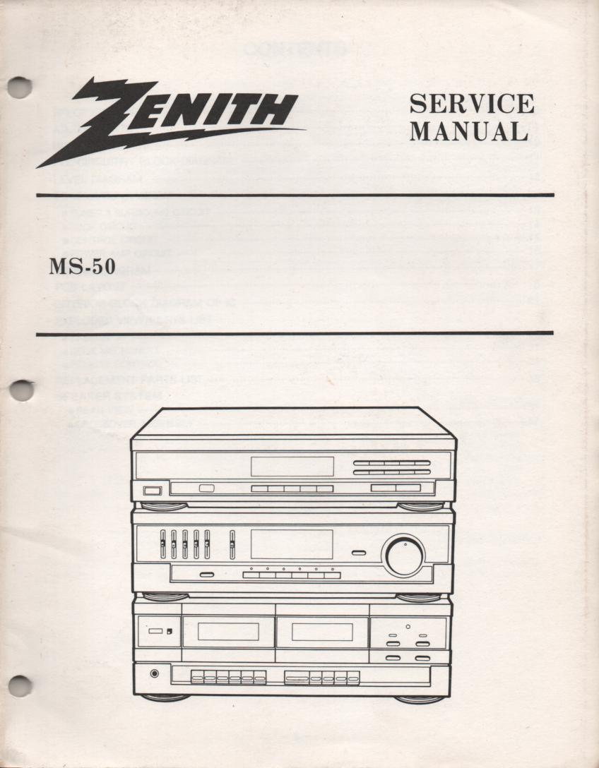 MS-50 Stereo System Service Manual