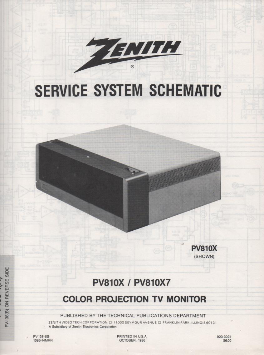PV810X TV Schematic ..