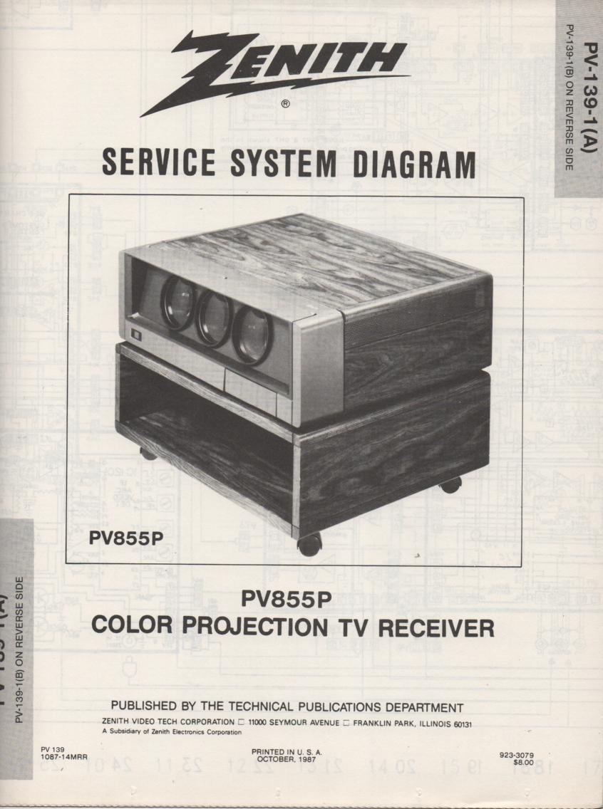 PV855P TV Schematic ..