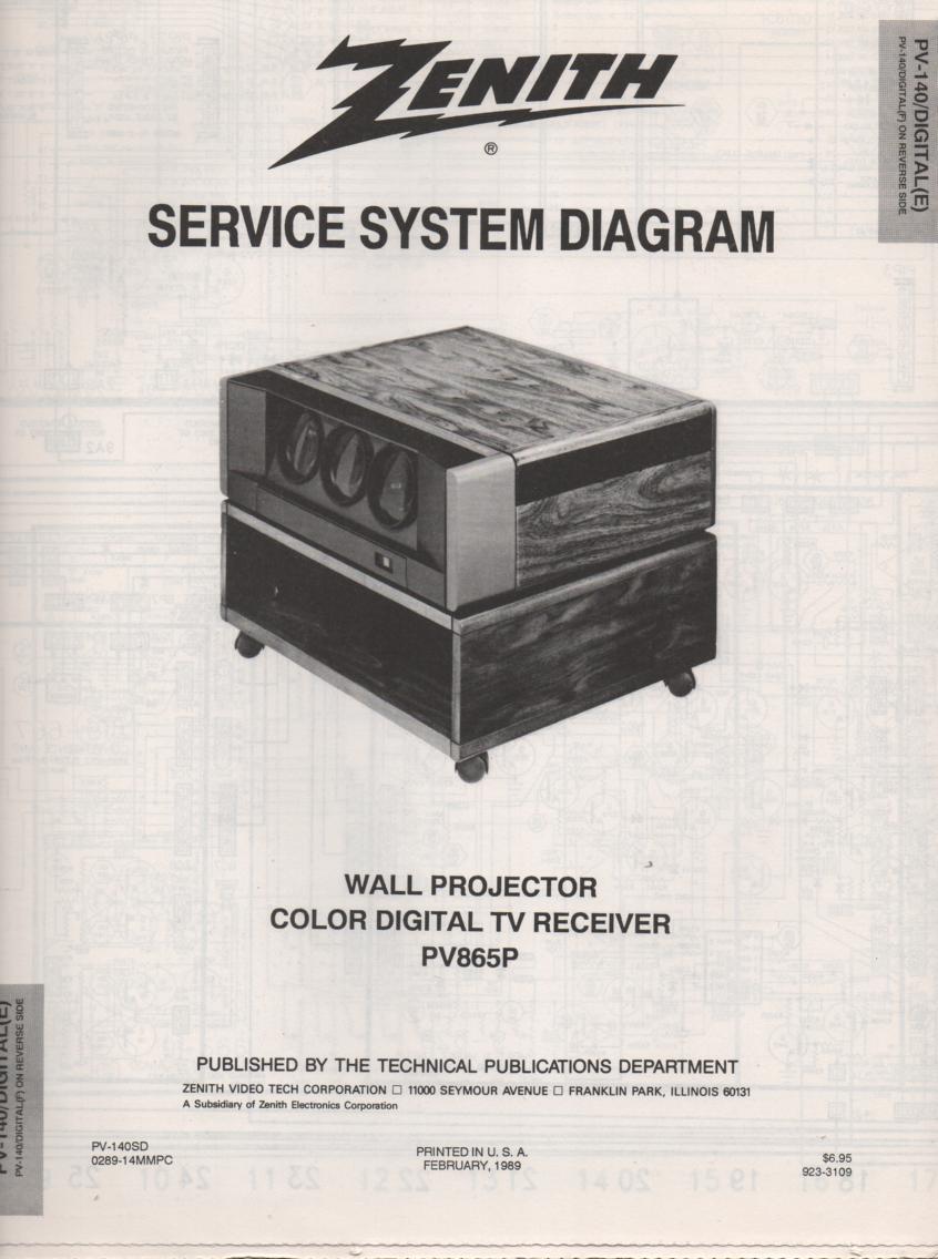 PV865P TV Schematic ..