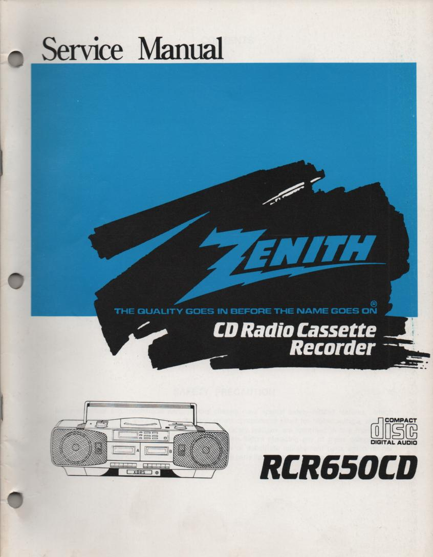 RCR650CD CD Radio Cassette Recorder Service Manual