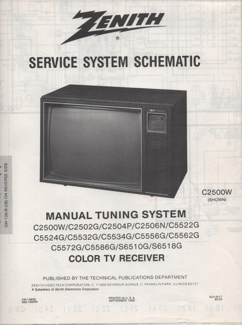 S6510G TV Schematic ..  C2500W Manual