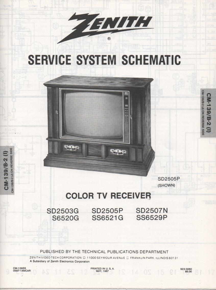 S6520G TV Schematic ..  SD2503G Manual