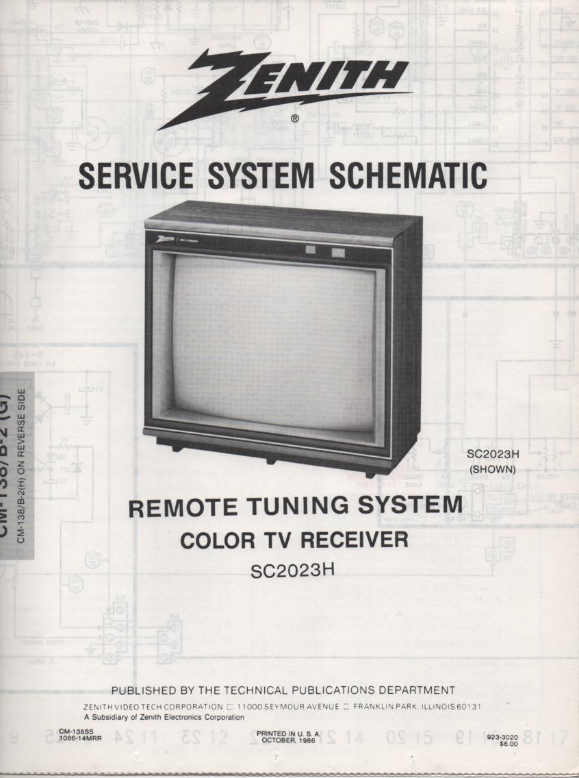 SC2023H TV Schematic ..