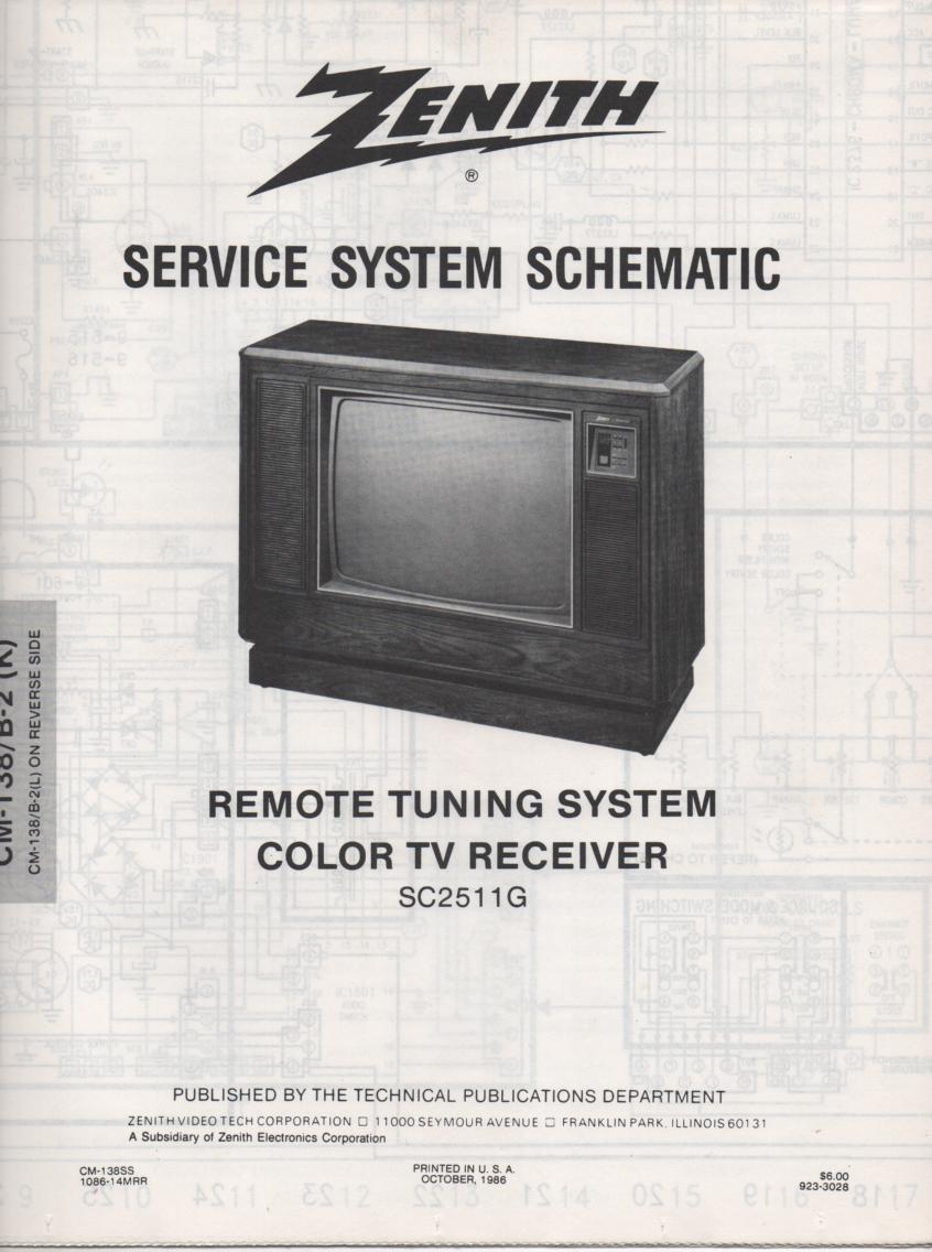 SC2511G TV Schematic ..