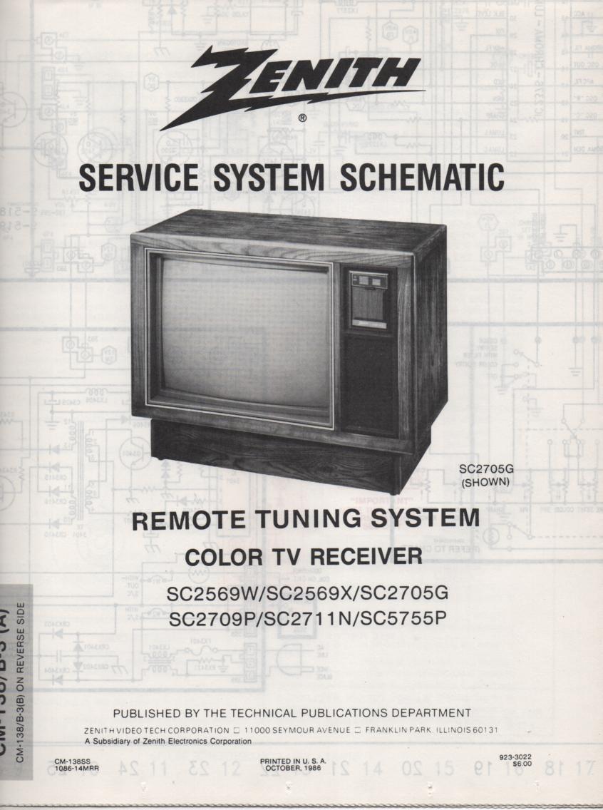 SC2709P TV Schematic ..  SC2569W Manual