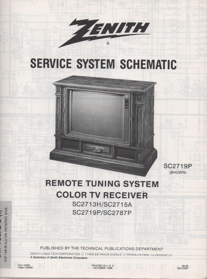 SC2715A TV Schematic ..  SC2713H Manual