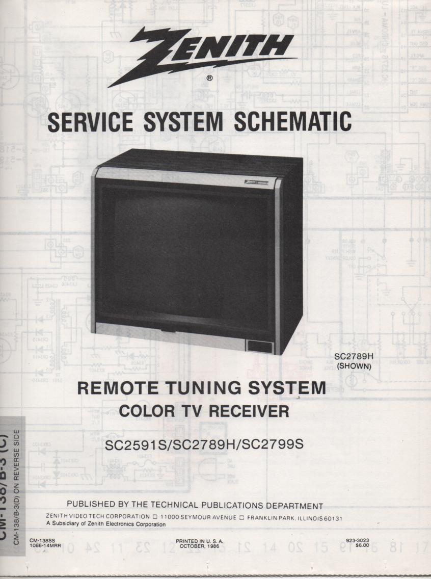 SC2789H TV Schematic ..  SC2591S Manual