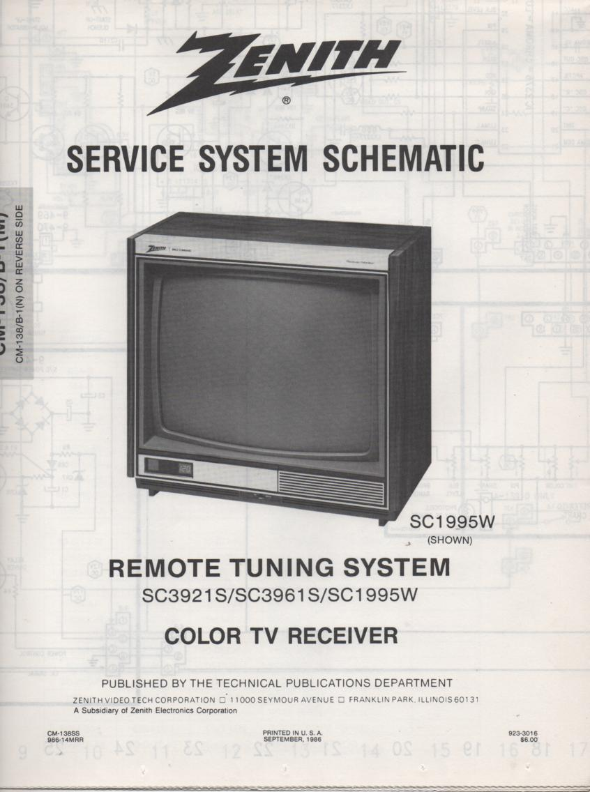 SC3961S TV Schematic ..  H1995W Manual